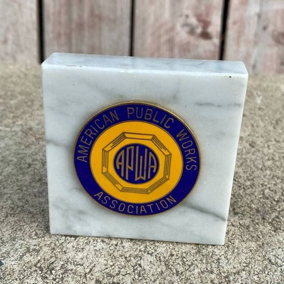 American Public Works Association Medal On Marble